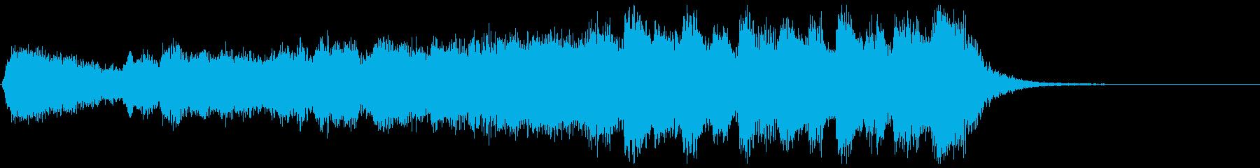 躍動的に盛り上がるフルオケジングル合唱付の再生済みの波形