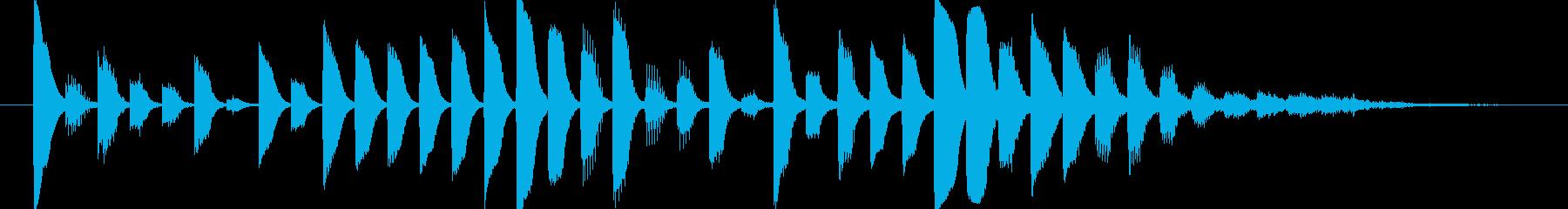 デジタルなアイキャッチの再生済みの波形