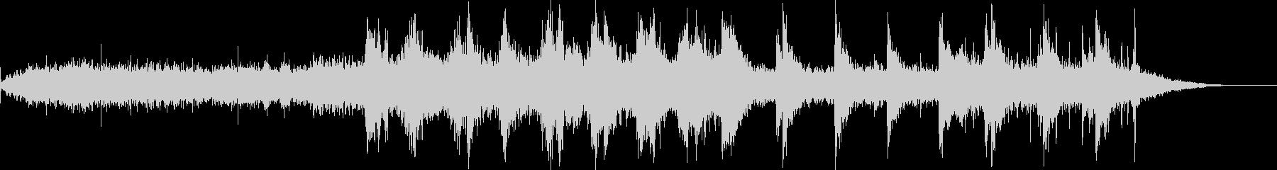 約1分音楽ーエスニックアンビエントの未再生の波形