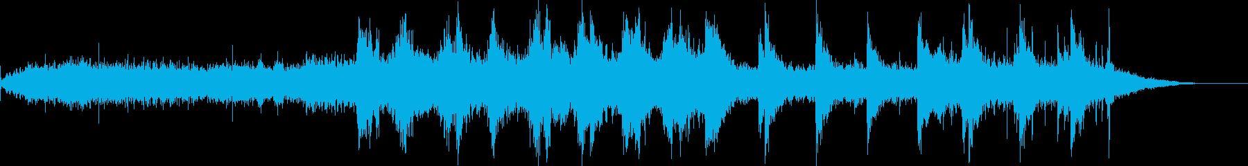 約1分音楽ーエスニックアンビエントの再生済みの波形