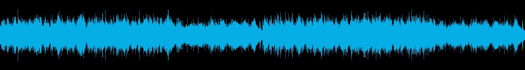 パンフルートとピアノの日常系BGMの再生済みの波形