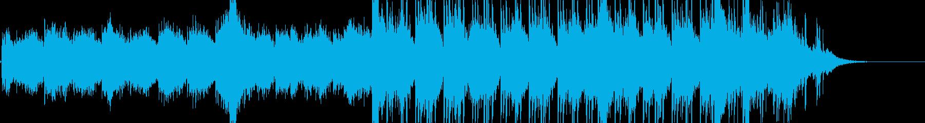 壮大なエレキギターのアルペジオの再生済みの波形