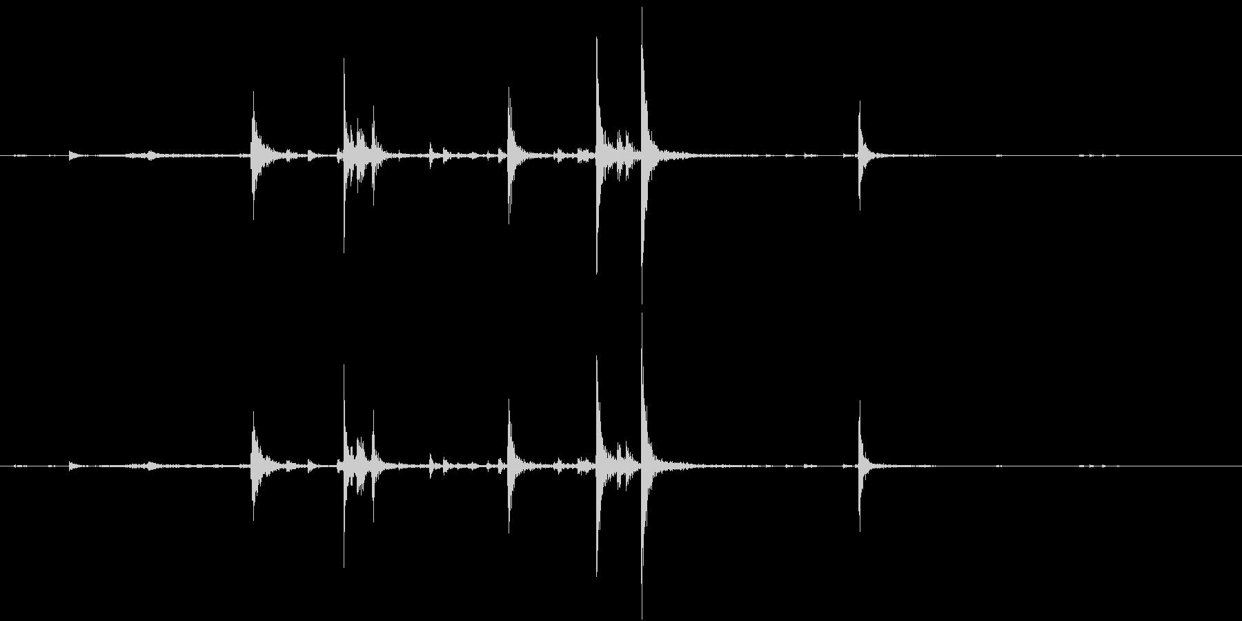 【生録音】弁当・惣菜パックの音 2の未再生の波形