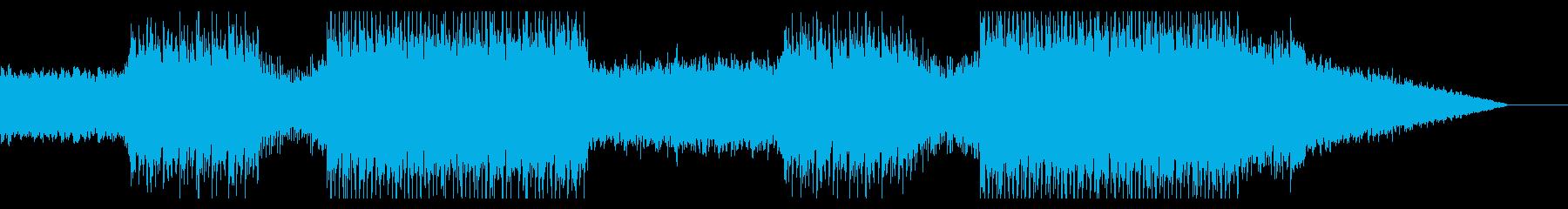 爽やかでエネルギッシュなBGMの再生済みの波形