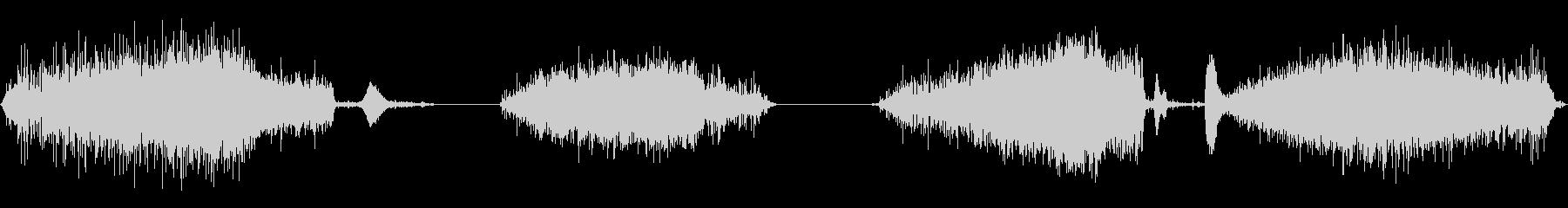 赤ちゃんハゲタカの巣でシューという音の未再生の波形
