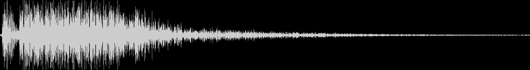 【YouTube】効果音_05 ピシッの未再生の波形
