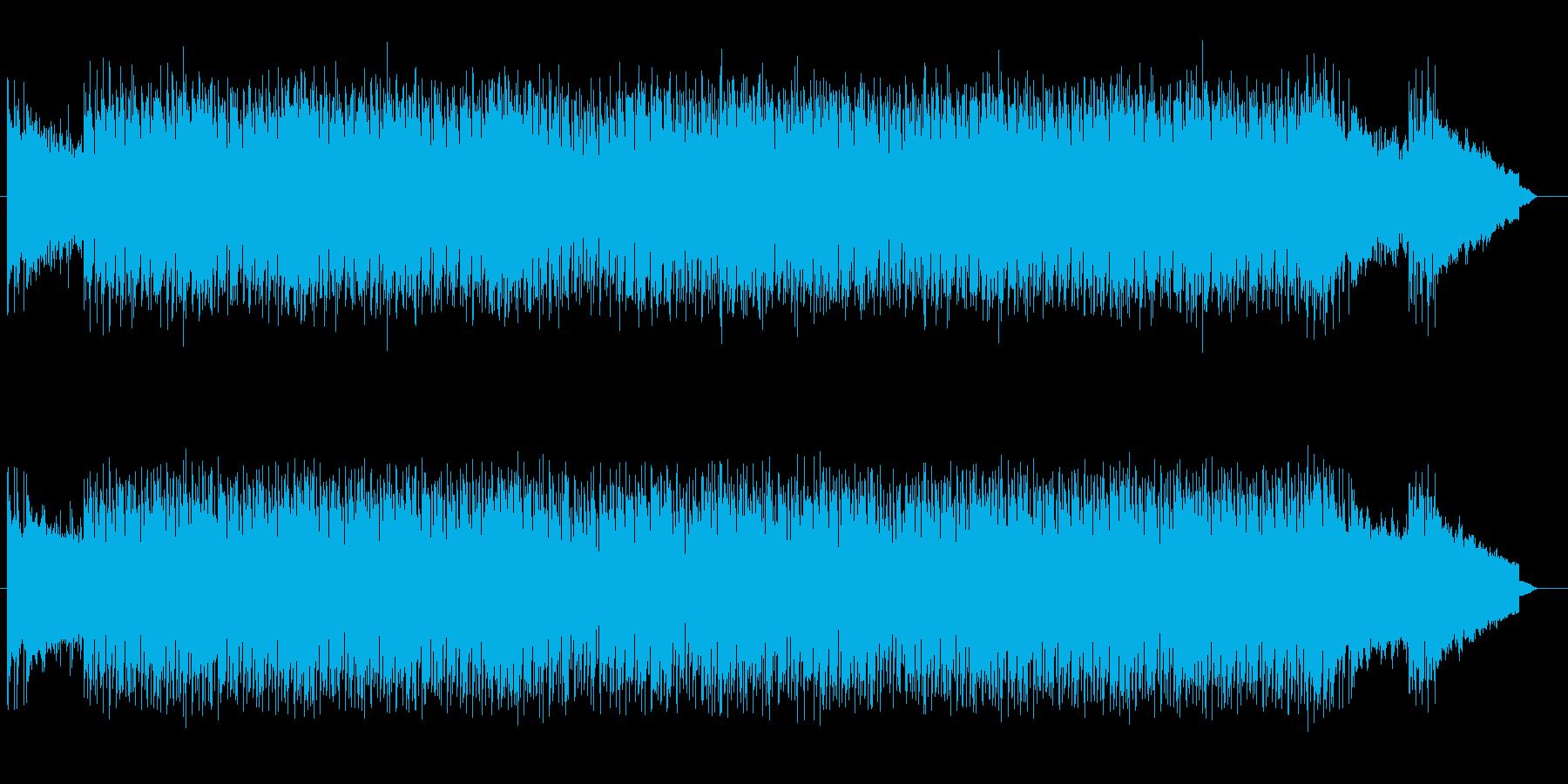疾走感あるリズミカルで軽快なポップスの再生済みの波形