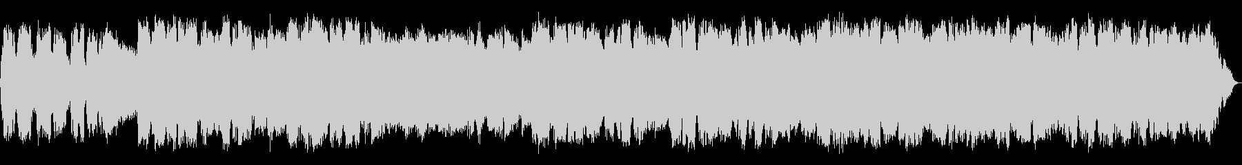 静かな低音の竹笛のヒーリング音楽の未再生の波形