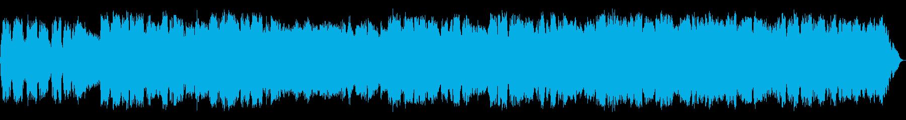 静かな低音の竹笛のヒーリング音楽の再生済みの波形