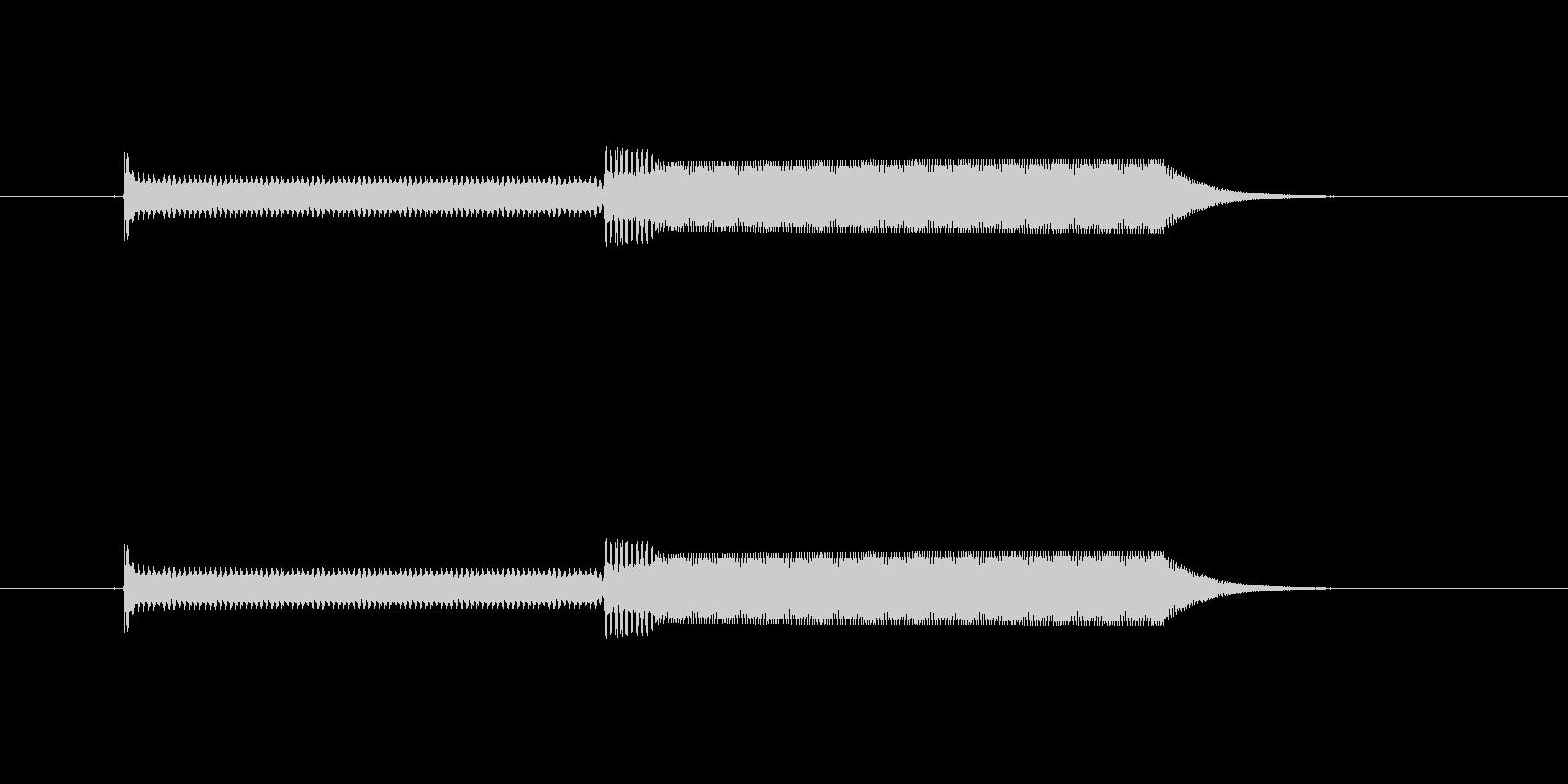 ピコ(電子音)の未再生の波形