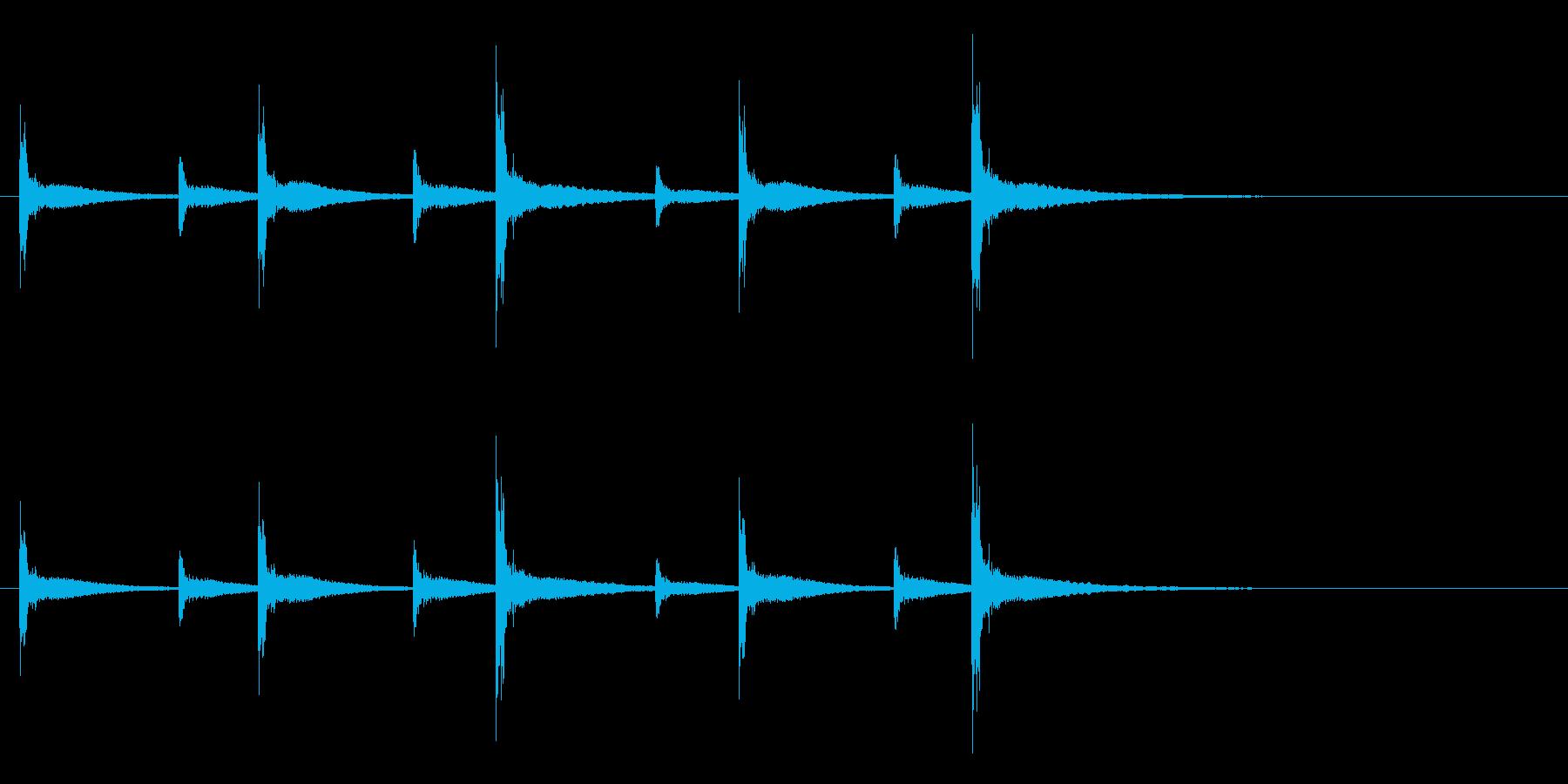 うちわ太皷のリズミカルなフレーズ音+Fxの再生済みの波形