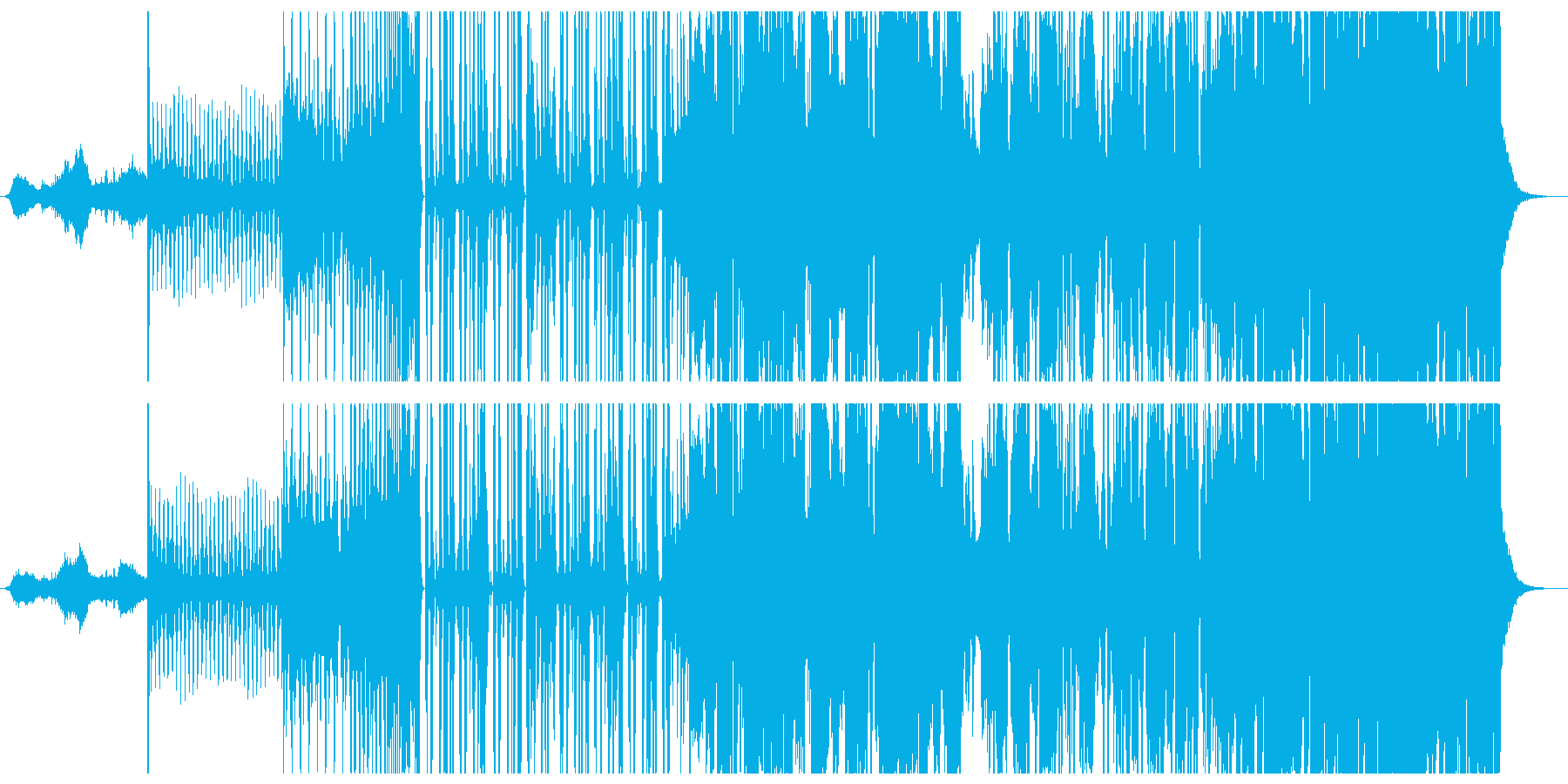 エレクトロ感満載フューチャーベースの再生済みの波形