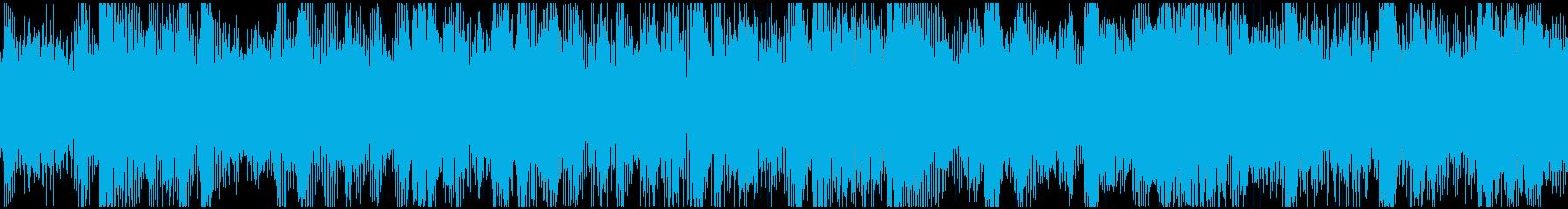 ループ:ドキドキ、わくわく、電子音の再生済みの波形