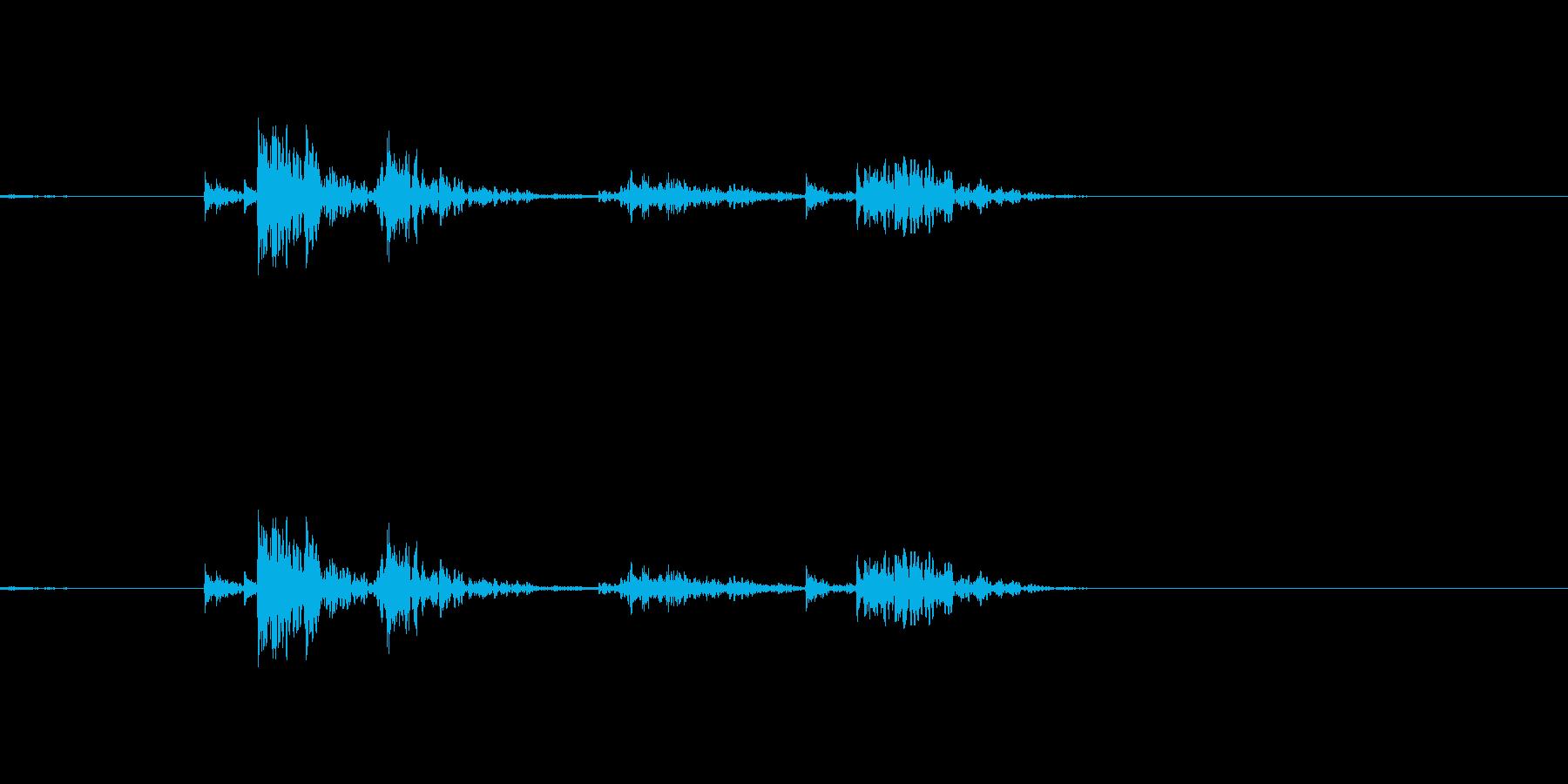 ドアを開ける音 ガチャの再生済みの波形