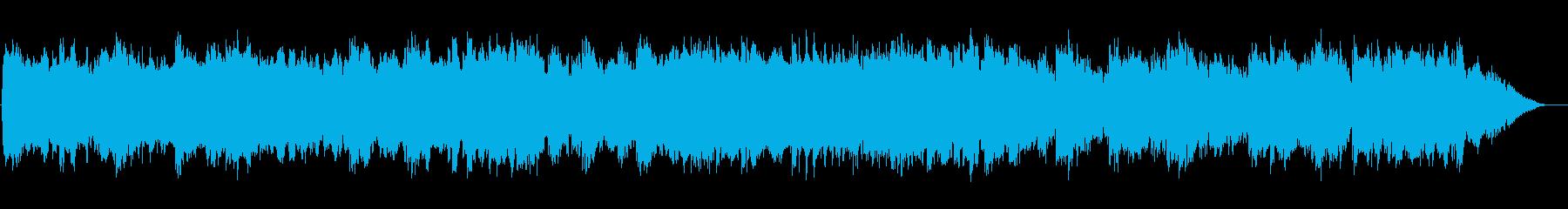 幻想的な光のイメージのアンビエント音楽の再生済みの波形