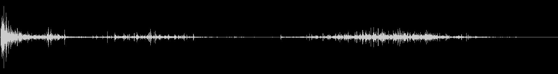 バッターボックスの土を踏みならす音 3の未再生の波形
