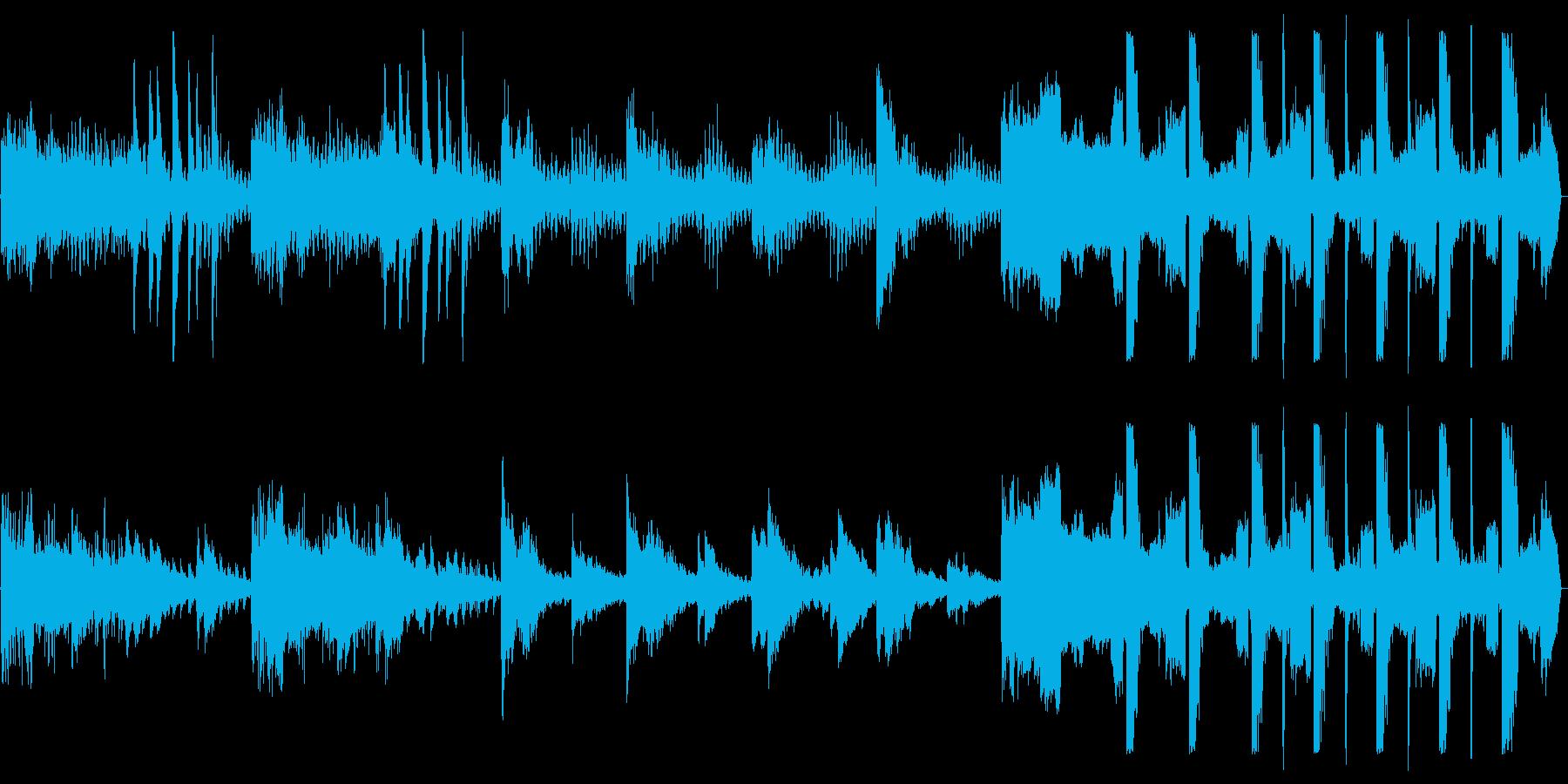 繊細な電子音が特徴的な癒し系音楽の再生済みの波形