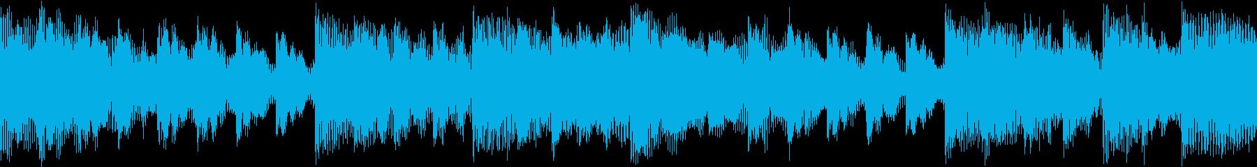 宇宙空間にいるようなBGM(ループ素材)の再生済みの波形