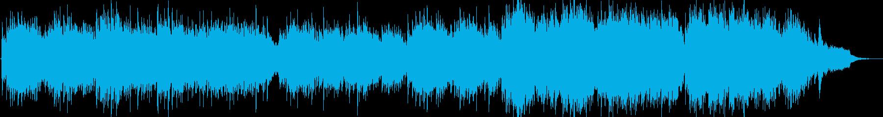 優しいヒーリング曲の再生済みの波形