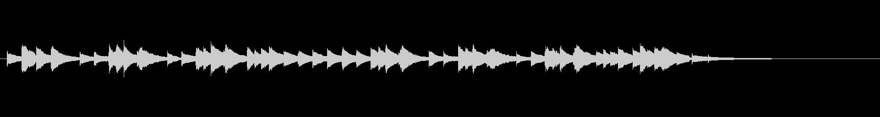 物悲しげなオルゴールのワルツ(30秒)の未再生の波形
