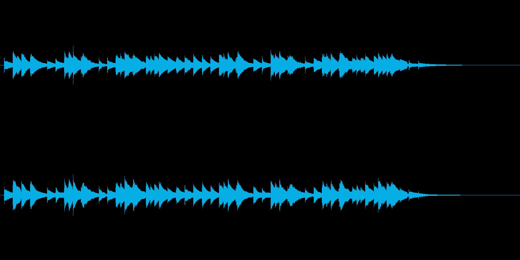 物悲しげなオルゴールのワルツ(30秒)の再生済みの波形