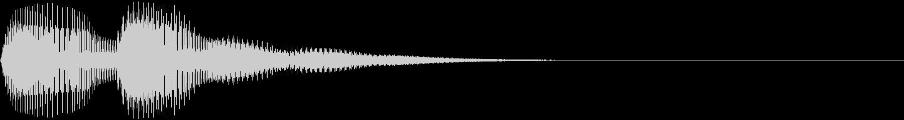 パフッン(ボタン音・クリック音・操作音)の未再生の波形