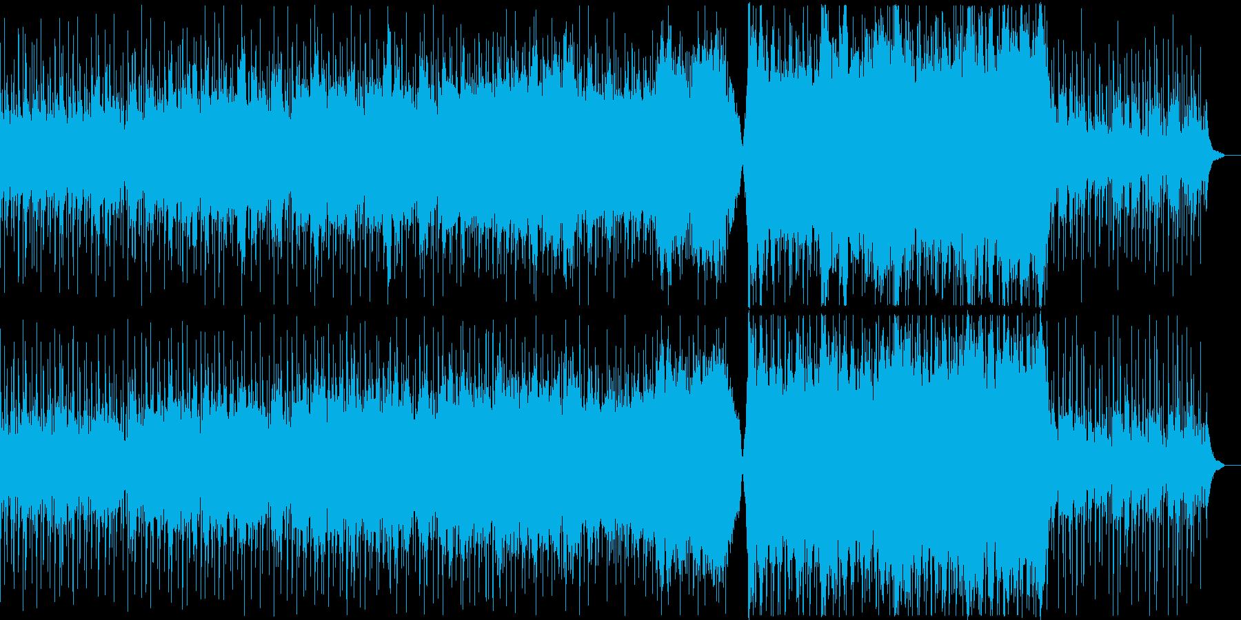 プラネタリウム、星空をイメージした曲の再生済みの波形
