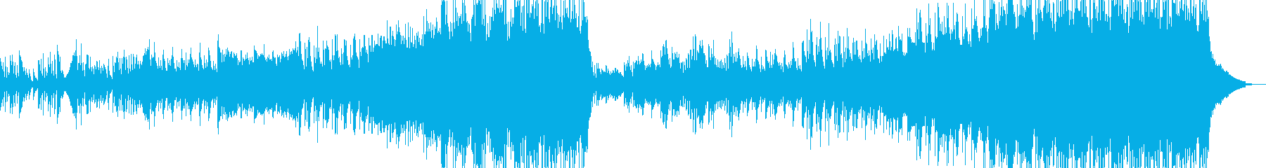 長年望んだ再会シーンに溶け込むBGMの再生済みの波形