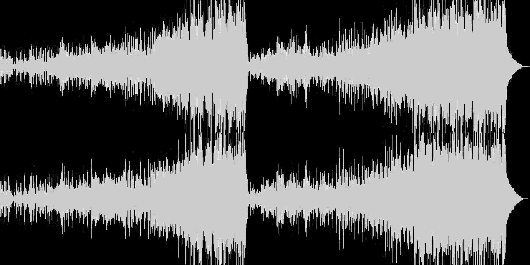 長年望んだ再会シーンに溶け込むBGMの未再生の波形