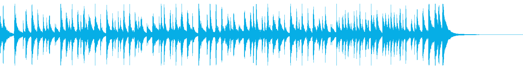 出囃子アレンジの「通りゃんせ」の再生済みの波形