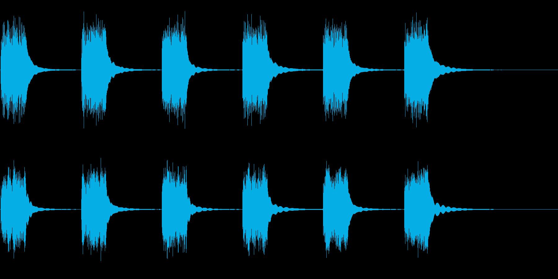 ビンテージロータリーダイヤル電話:...の再生済みの波形