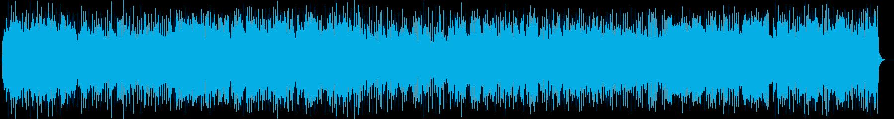 吹奏楽調の軽快なポップスの再生済みの波形