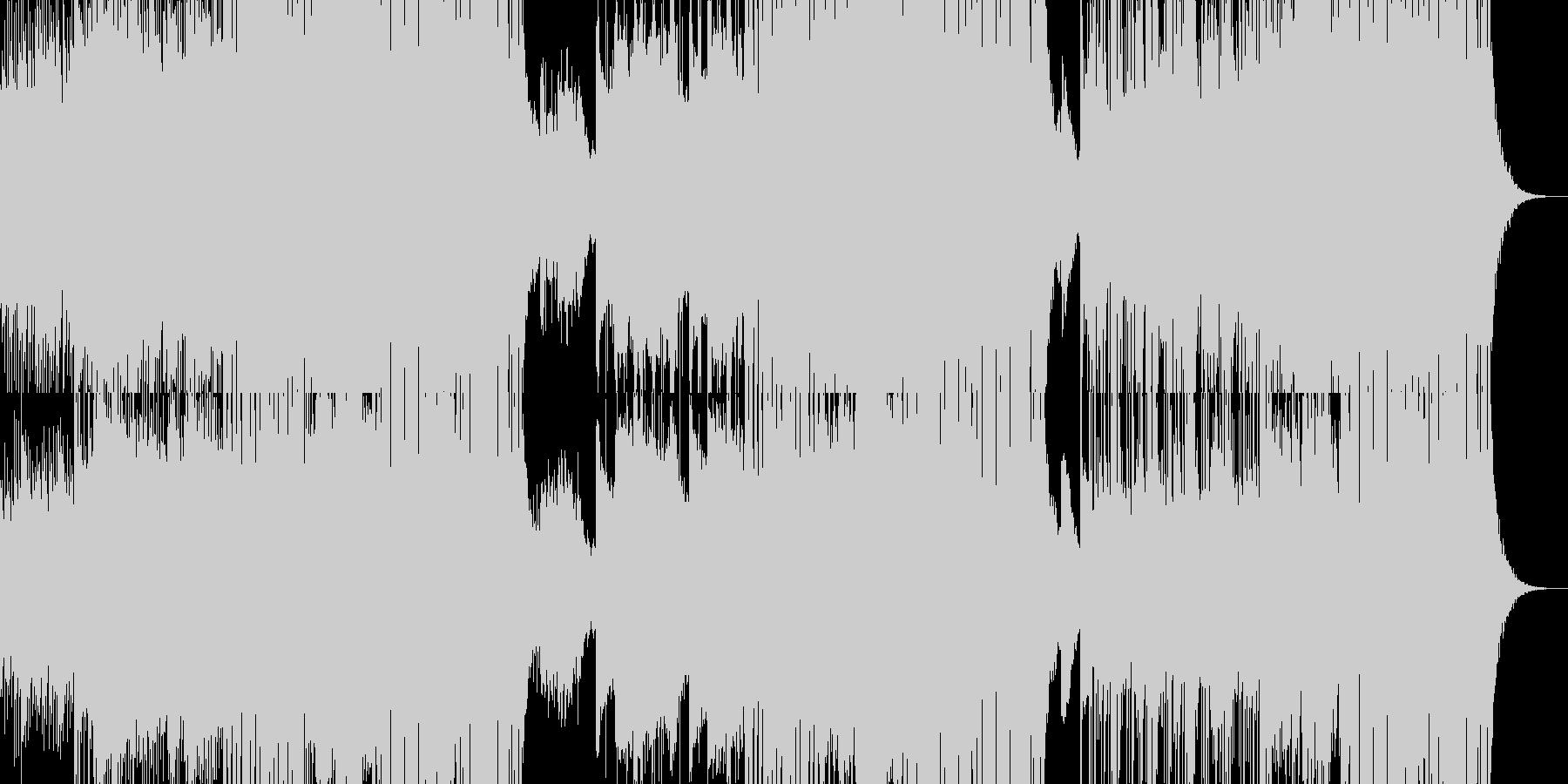 ゆっくりしたテンポのクラブミュージックの未再生の波形
