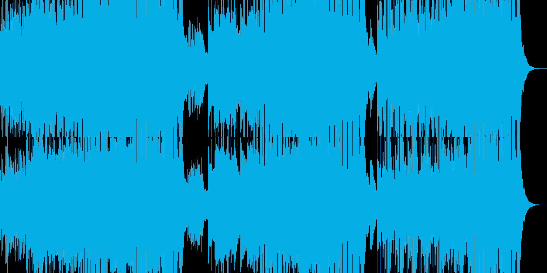 ゆっくりしたテンポのクラブミュージックの再生済みの波形