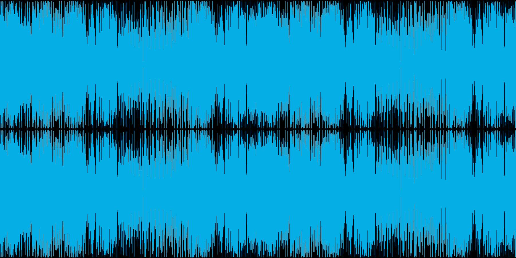レトロ風ゲームの砂漠の遺跡ステージBGMの再生済みの波形