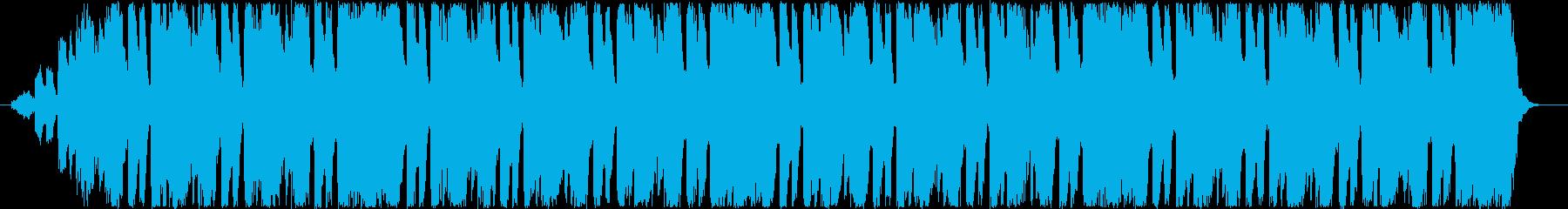 明るく元気のある曲調の電子音のEDテーマの再生済みの波形