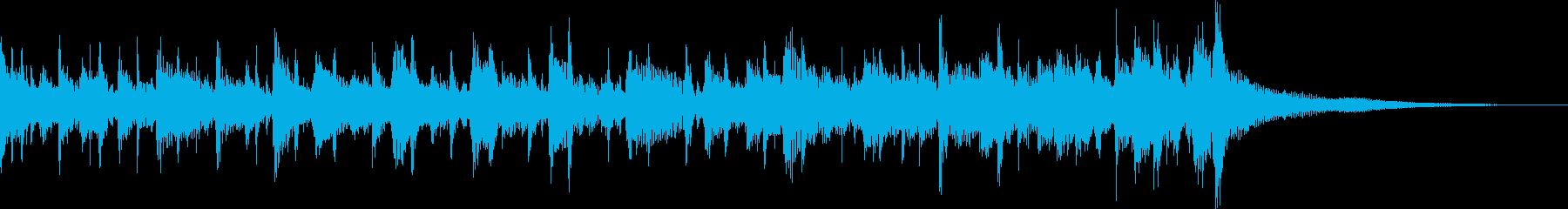 カントリーなジングルの再生済みの波形