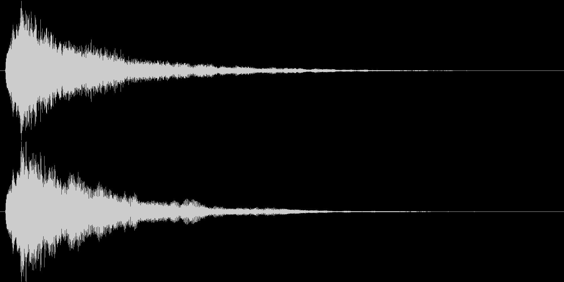 キュルル…↑(回復、アイテム取得)の未再生の波形