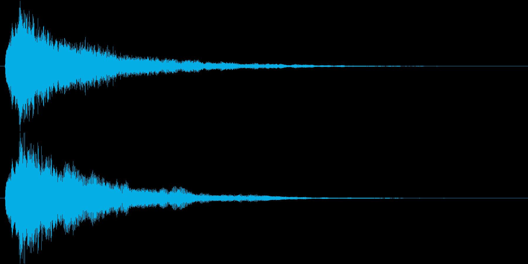 キュルル…↑(回復、アイテム取得)の再生済みの波形