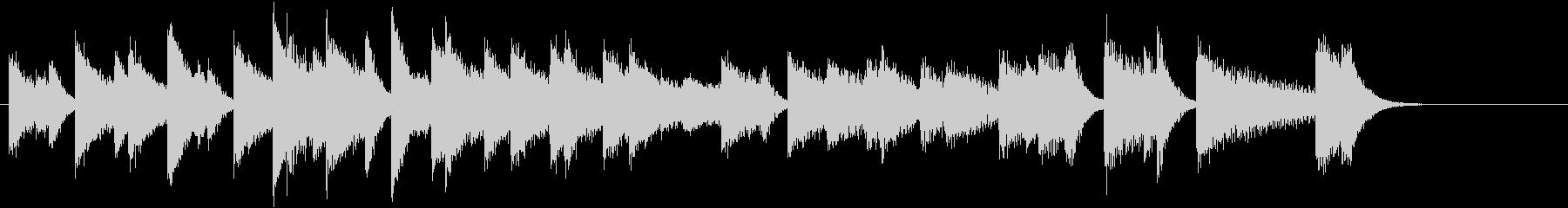 ひいらぎかざろうモチーフピアノジングルFの未再生の波形