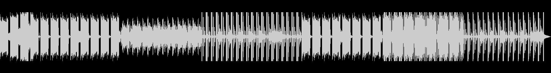 ポップなエレクトロの未再生の波形