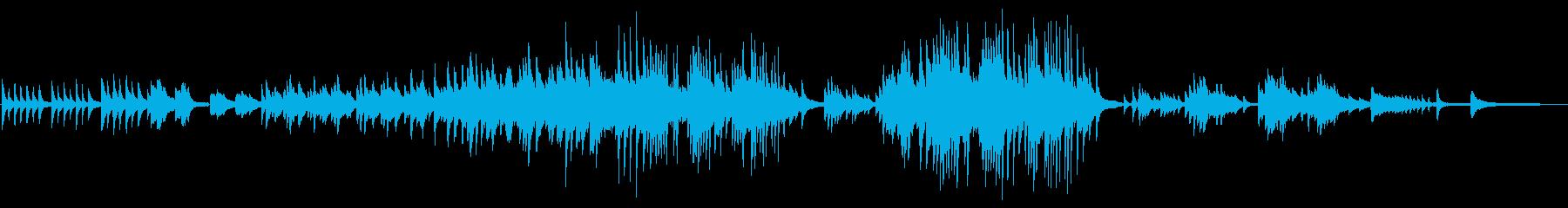 「あの日咲いたヒマワリへ」ピアノソロの再生済みの波形