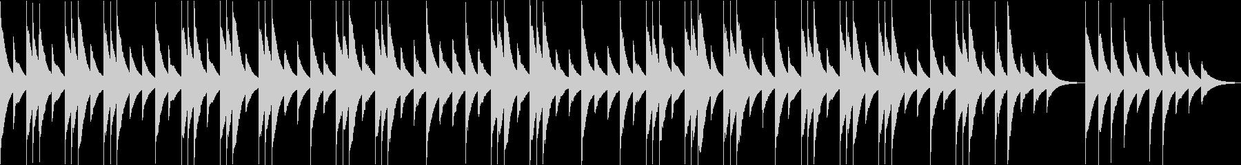 優しい静かなオルゴールの子守唄の未再生の波形