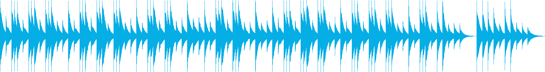 優しい静かなオルゴールの子守唄の再生済みの波形