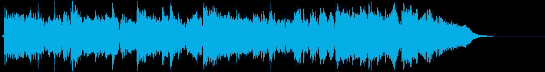 15秒CM向けの爽やかなフルート生演奏曲の再生済みの波形