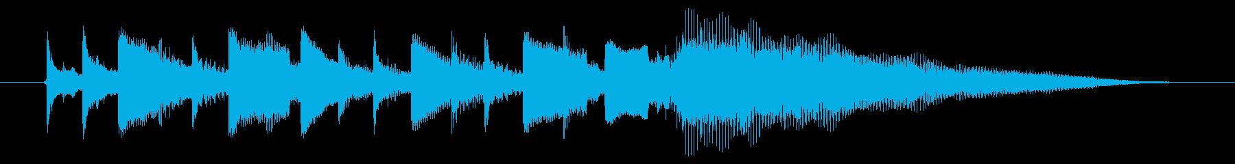 海外ドラマ風エレキギター ミュートその2の再生済みの波形