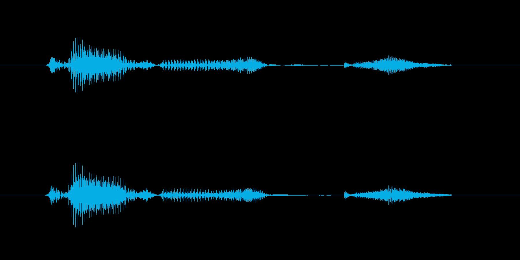 【挨拶】どうぞ上がって(低音)の再生済みの波形