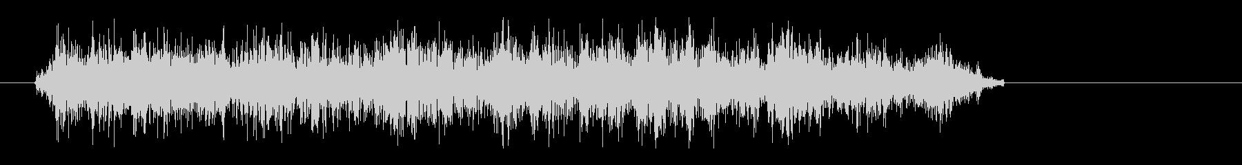 シューッ(決定音、紙の摩擦音)の未再生の波形