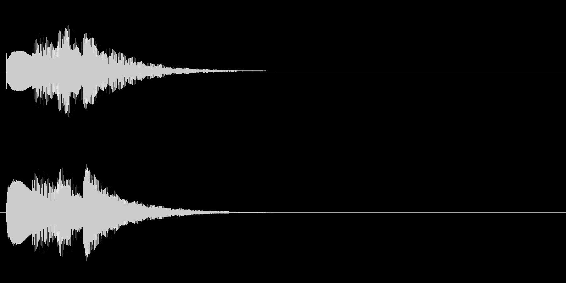 アナウンス始まる前の音(ピンポンパンポンの未再生の波形