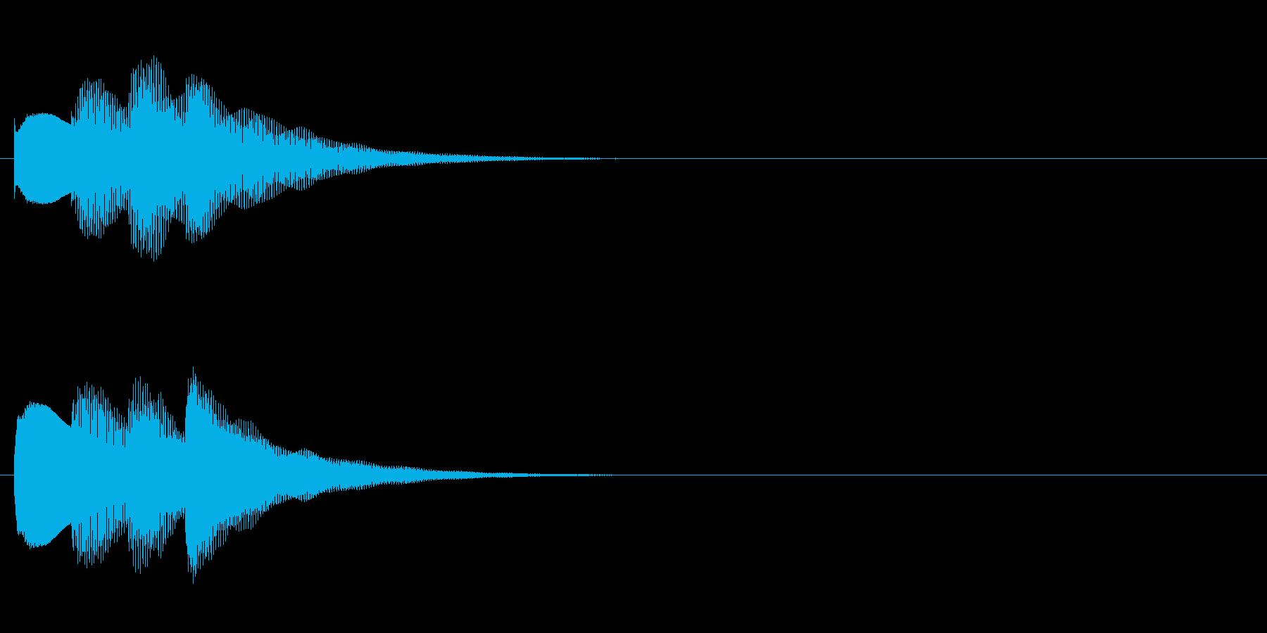 アナウンス始まる前の音(ピンポンパンポンの再生済みの波形